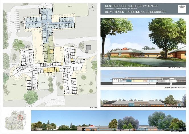 Centre hospitalier des pyr n es 3sd architectes architecture hospitali re - Planche concours architecture ...