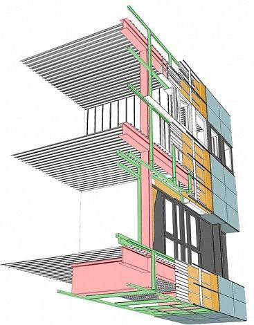 Détail structure façade