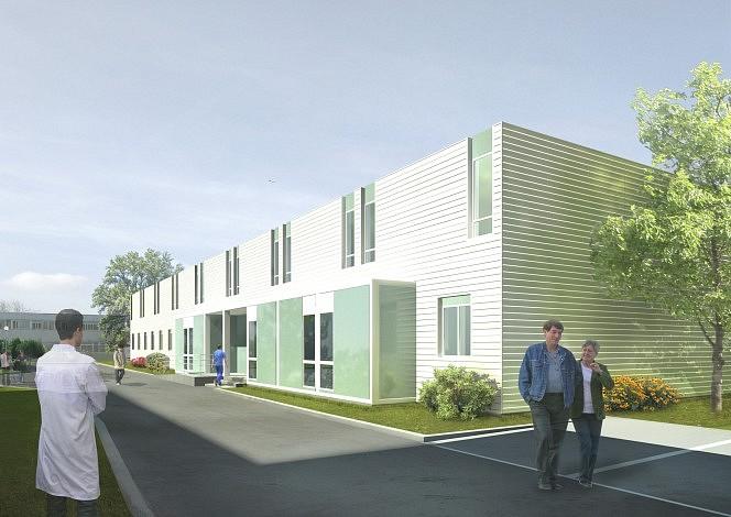 centre hospitalier de poissy 3sd architectes architecture hospitali re. Black Bedroom Furniture Sets. Home Design Ideas